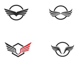 Falcon Wing Logo Template vector pictogram ontwerp