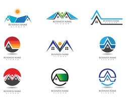 buildings logo and symbols icons template