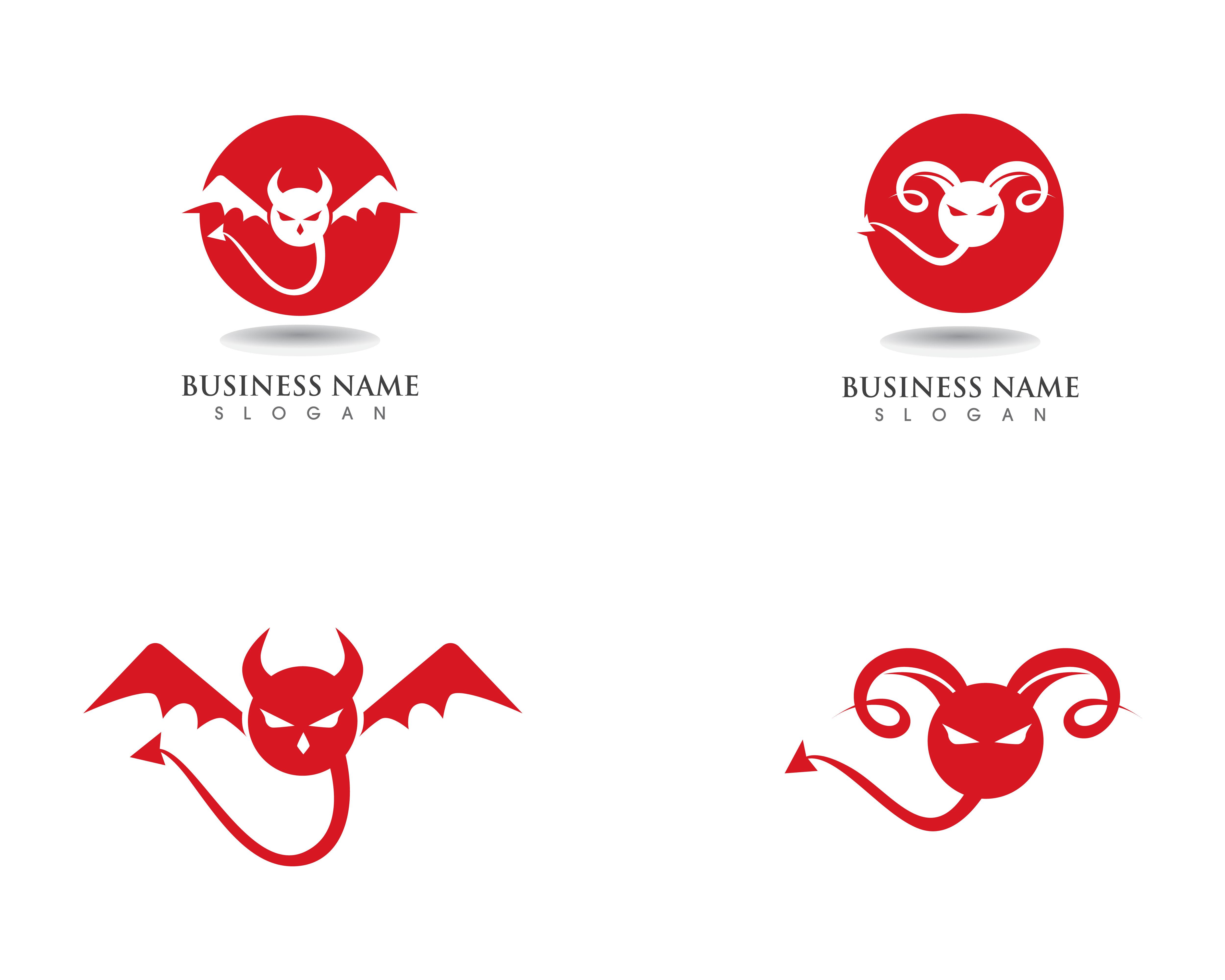 devil logo red vector icon template download free vectors clipart graphics vector art vecteezy