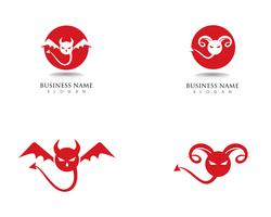 Devil  logo red vector icon template