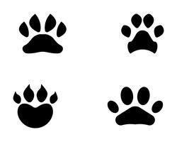 Impresión de pie perro animal mascota logotipo y símbolos