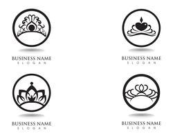 Corona plantilla de logotipo ilustraciones vectoriales