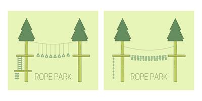 Rope park track