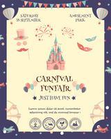 cartaz parque de diversões