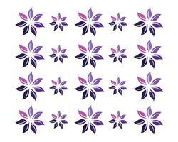 motifs floraux logo et symboles fond blanc