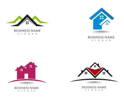 house and home logos template vector