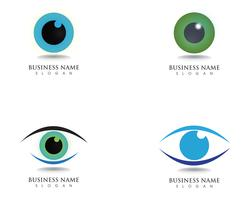 Ögonvård logotyp hälsa symboler
