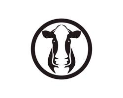 Kuhkopfsymbole und Logovektorschablone