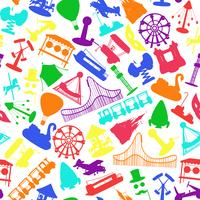 Amusement park rides seamless pattern