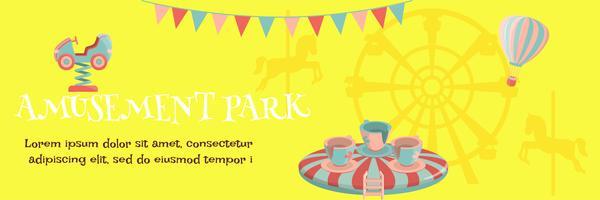 cartaz do parque de diversões