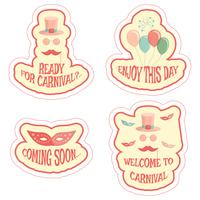 carnival stickers set