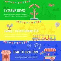 Parque de diversões parque horizontal banner