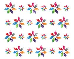 floral patterns logo and symbols  white background