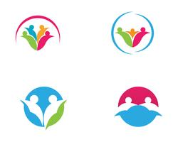 Adoptie en community care Logo sjabloon vector