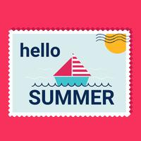 Olá Verão Vector