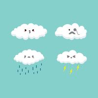 moln tecknad vektor