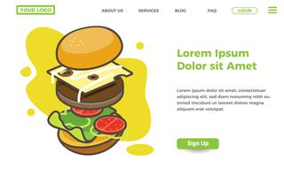 food and burger store landing page template