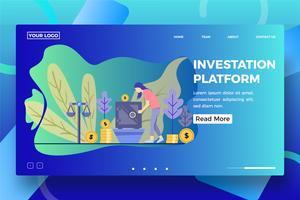 Modelo de página de destino da plataforma de investimento