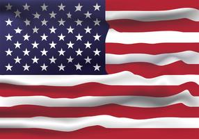 Realistic United States of America Flag Vector Design