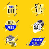 Sale and discount graphic element banner vector