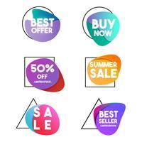 Banner di elemento grafico di vendita e sconto