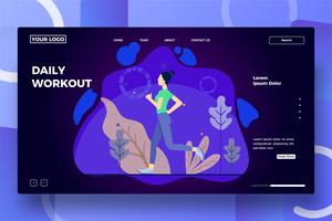 Running woman landing page template