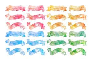 Hand Drawn Watercolor Ribbons