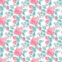 Akvarell blommig sömlös mönster