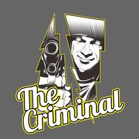 the criminal.man holding gun.vector hand drawing, shirt designs, biker, disk jockey, gentleman, barbiere e molti altri.isolated e facile da modificare. Illustrazione vettoriale - Vector