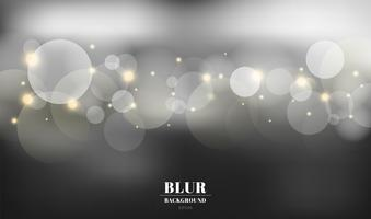 Abstract black blurred background with bokeh and gold sparkles. You can use for card, flyer, invitation, placard, voucher. vector