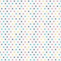 Abstract cross pattern colorful on white background. Geometric memphis plus signs.