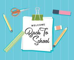 Welcome Back to School Concept Background Vector Flat Design