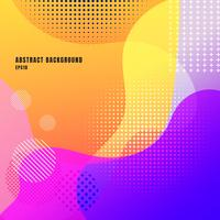 Abstract liquid or fluid creative templates with dynamic waves bright color background. Retro wavy geometric pattern colorful. Trendy gradient shapes composition modern concept.