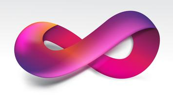 Gradient purple Infinity symbol vector