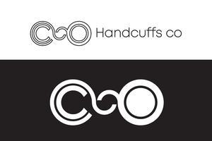 Handcuffs Logo Concept Black and White