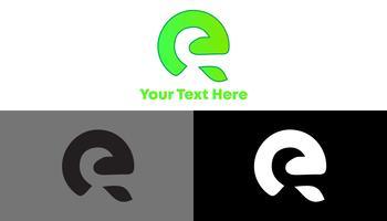 Concept de logo minimaliste E Leaf