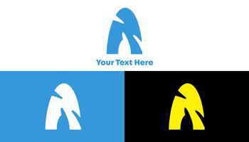 Een logo. Schoon, speels en modern logo-concept