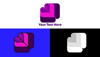 Modernes einzigartiges Steigungs-Quadrat Logo Concept