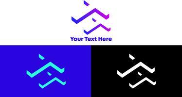 T Gradient 3D, Concept de logo moderne