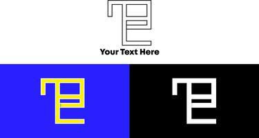 Enkelt och modernt Monogram Logo Concept