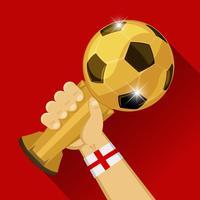 Troféu de futebol para a Inglaterra vetor