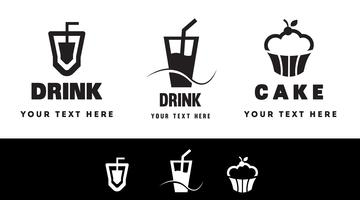 food and beverage logo concept. Modern Badge