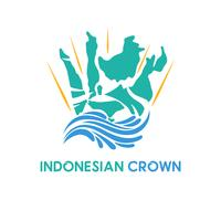 indonesia and crown logo concept