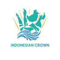 concetto di logo di Indonesia e corona