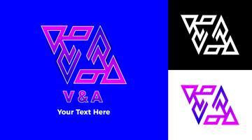 Concepto moderno del logotipo del símbolo del triángulo de la pendiente