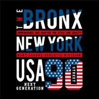 HET BRONX-typografieontwerp voor t-shirt