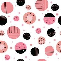 Abstract sweet pink  painting seamless pattern vector.