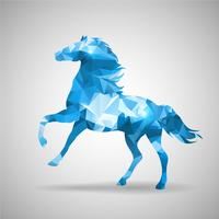 Geometric triangle horse vector