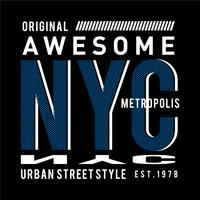 grafica di t-shirt di new york city design tipografia