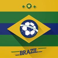 sinal de bandeiras de futebol do Brasil vetor
